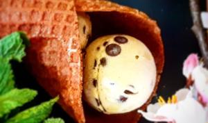 Crème glacée menthe pépites de chocolat