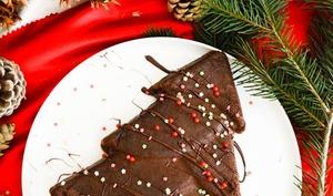 Sapin magique chocolat, marron, caramel