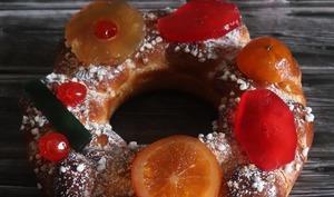 Couronne à l'orange et fruits confits