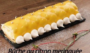 Bûche au citron meringuée