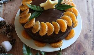 Layer cake de fêtes chocolat clémentines