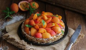 La tarte granola abricot passion