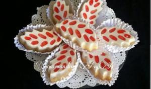 Biscuits Feuilles au Chocolat Blanc et Framboise