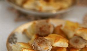 Feuilletés de boudin blanc et foie gras