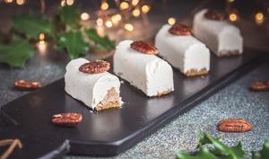 Mini bûches noix de pécan et tonka