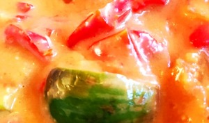 Curry rouge de mini aubergines thaï