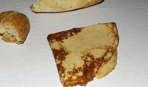 Crêpes à la farine de pain sec