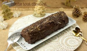 Bûche tout chocolat
