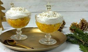 Coupes ananas mangues, crème coco