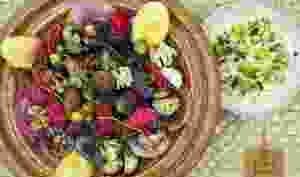 Tagine d'agneau en salmigondis de fruits et légumes d'automne