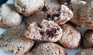 Cookies à la farine de noix et au chocolat noir