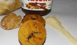 Muffins au pain sec cœur Nutella