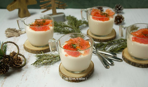 Panna cotta de chou-fleur au saumon