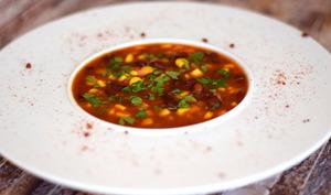 Soupe aux haricots rouges et maïs