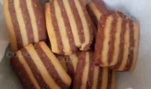 Biscuits marbrés au chocolat noisette et cannelle