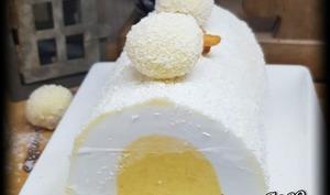 Bûche Glacée à La Noix De Coco, Passion et Mangue