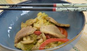 Wok de porc et légumes