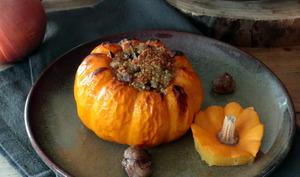 Jack-be-little farcies au quinoa et aux châtaignes