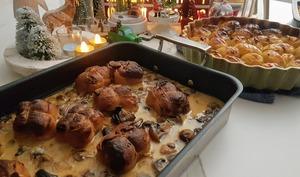 Paupiettes de veau sauce crémeuse aux champignons