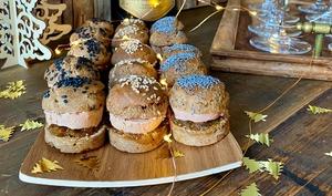 Burger de pain d'épices au foie gras