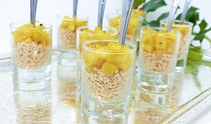 Verrines de foie gras à la compotée d'ananas