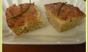 Gâteau aux pommes de terre et oignons