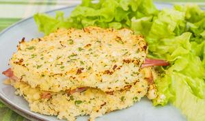 Croque chou fleur jambon fromage