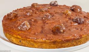 Gâteau à la courge sucrine, aux pépites de chocolat et à la crème de châtaignes