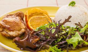 Poulet rôti aux oranges et à la sauce soja