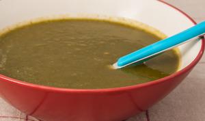 Soupe de carottes, radis noirs et cresson