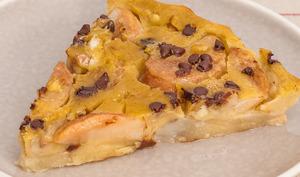 Clafoutis aux poires, châtaignes et chocolat