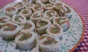 Roulés au saumon fumé et tzatziki