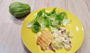 Tartiflette chayotte et pommes de terre