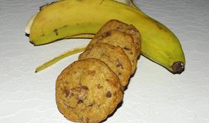 Cookies aux peaux de banane et chocolat