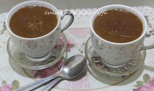 Crème chocolat sans oeuf glaçage caramel