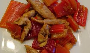 Sauté de poulet aux blettes colorées