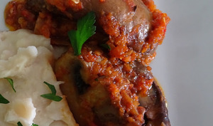 Steaks de portobellos avec purée de haricots blancs