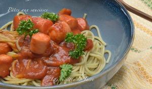 Spaghettis aux saucisses
