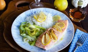 Pavés de saumon érable citron