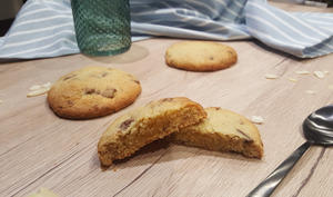 Cookies cœur frangipane aux pépites de chocolat