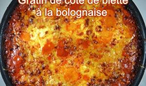 Gratin de côtes de blettes à la bolognaise