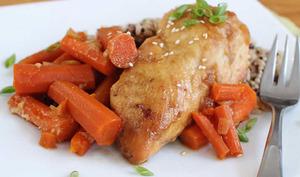 Cuisses de poulet et carottes