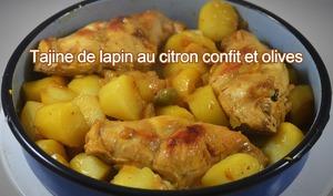 Tajine de cuisses de lapin au citron confit et olives