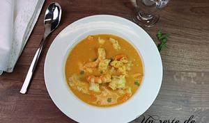 Soupe épicée de poisson et patate douce