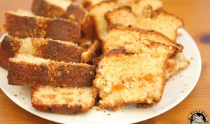 Cake abricots secs amandes