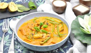 Soupe de patate douce façon thaï