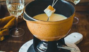 Fondue Suisse moitié-moitié aux 2 fromages