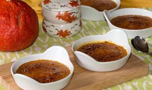 Crèmes brûlées au potimarron et épices douces