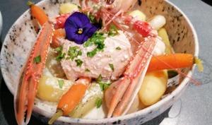 Pot au feu de la mer lotte saumon langoustines