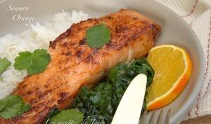 Pavés de saumon laqués à l'orange - Les recettes de Jacre/En toute simplicité